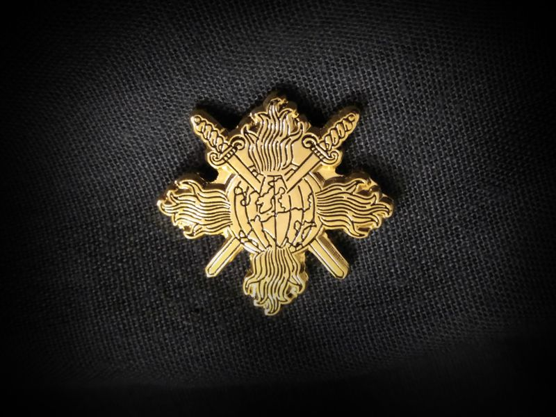 PUISSANCE - Global Deathrape Gold Pin